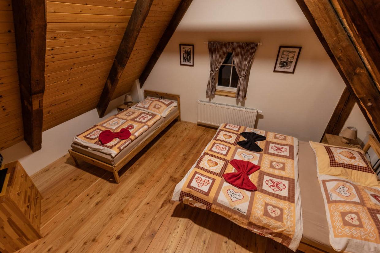 Prostorný rodinný pokoj Chata Rychtářka